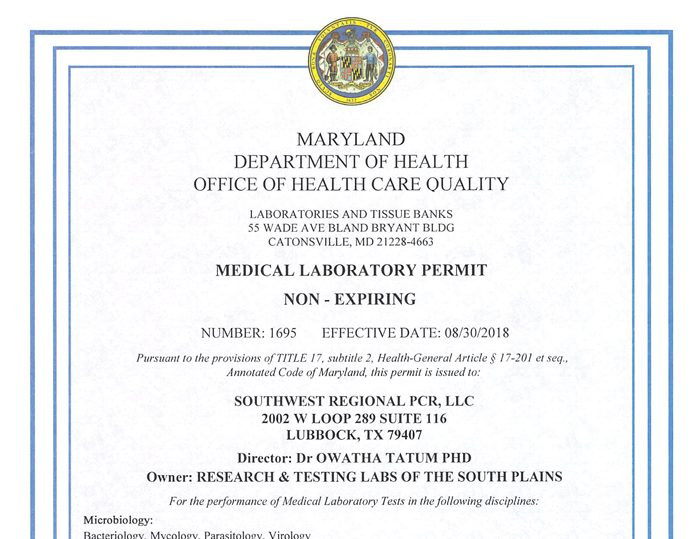 Maryland State License