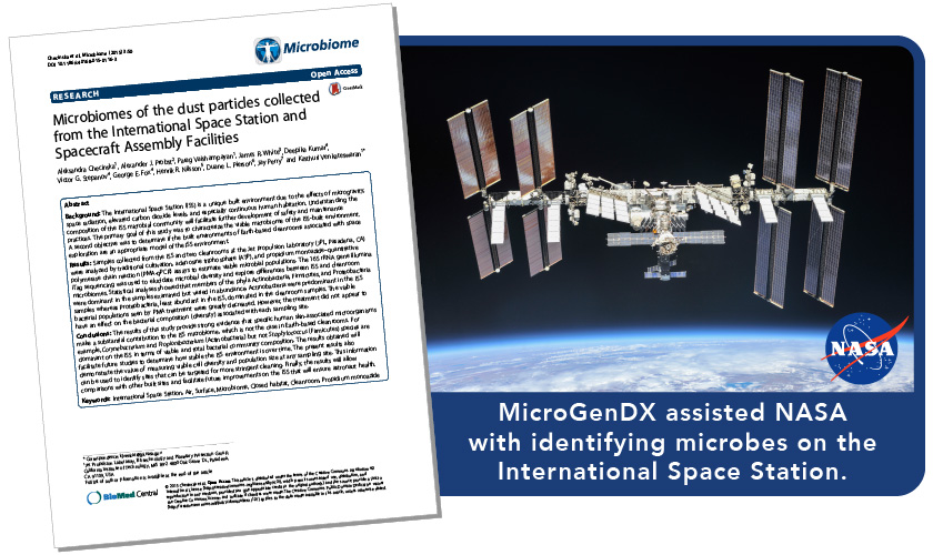 microgendx nasa international space station microbes