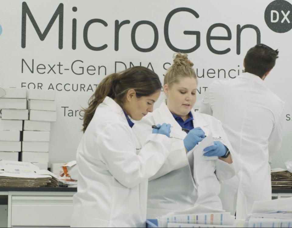MicroGenDX lab techs